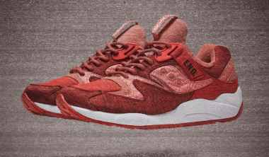 end x saucony red noise