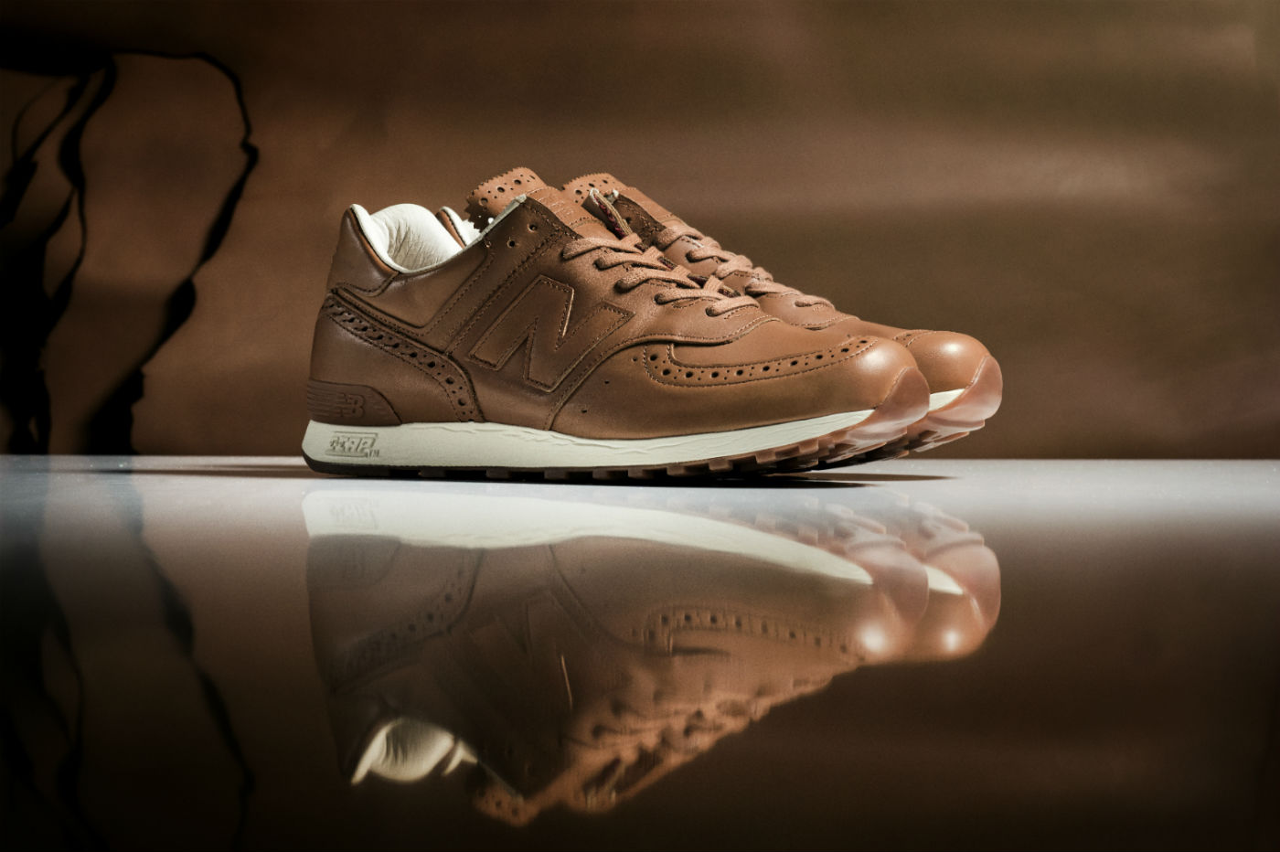 new balance x grenson brogue sneaker