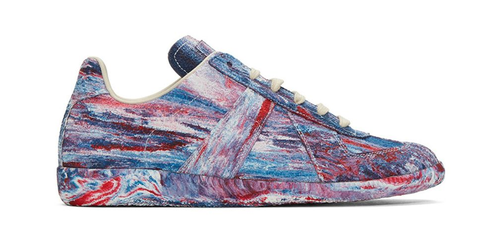 Maison Margiela Tie Dye Replica Military Trainer
