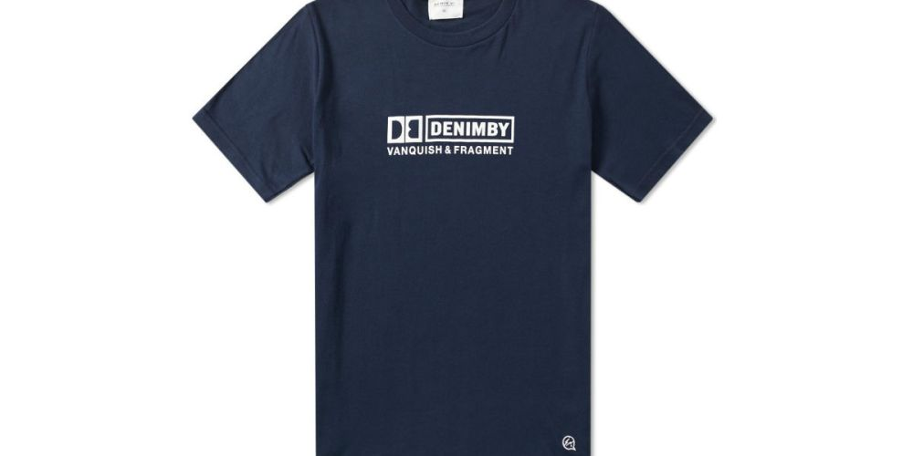 Denim by Vanquish & Fragment Box Logo T-shirt Navy