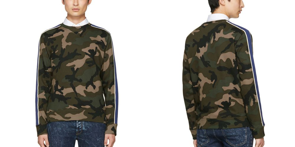 Valentino Brown Camo Sweatshirt