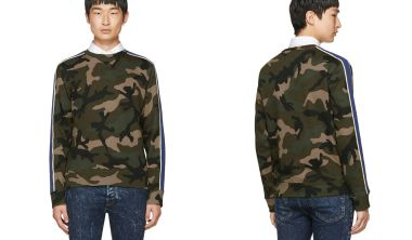 Valentino Brown Camo Sweatshirt