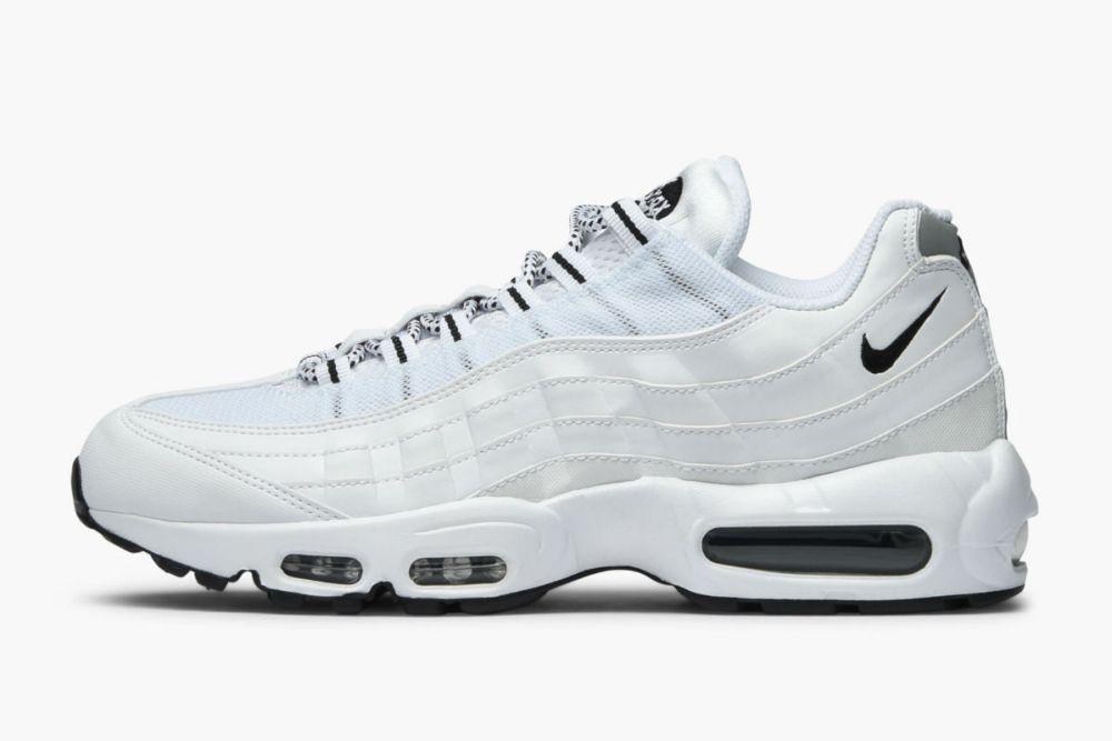 Nike Air Max 95 Triple White/Nike Air Max 95 White/Black/All White