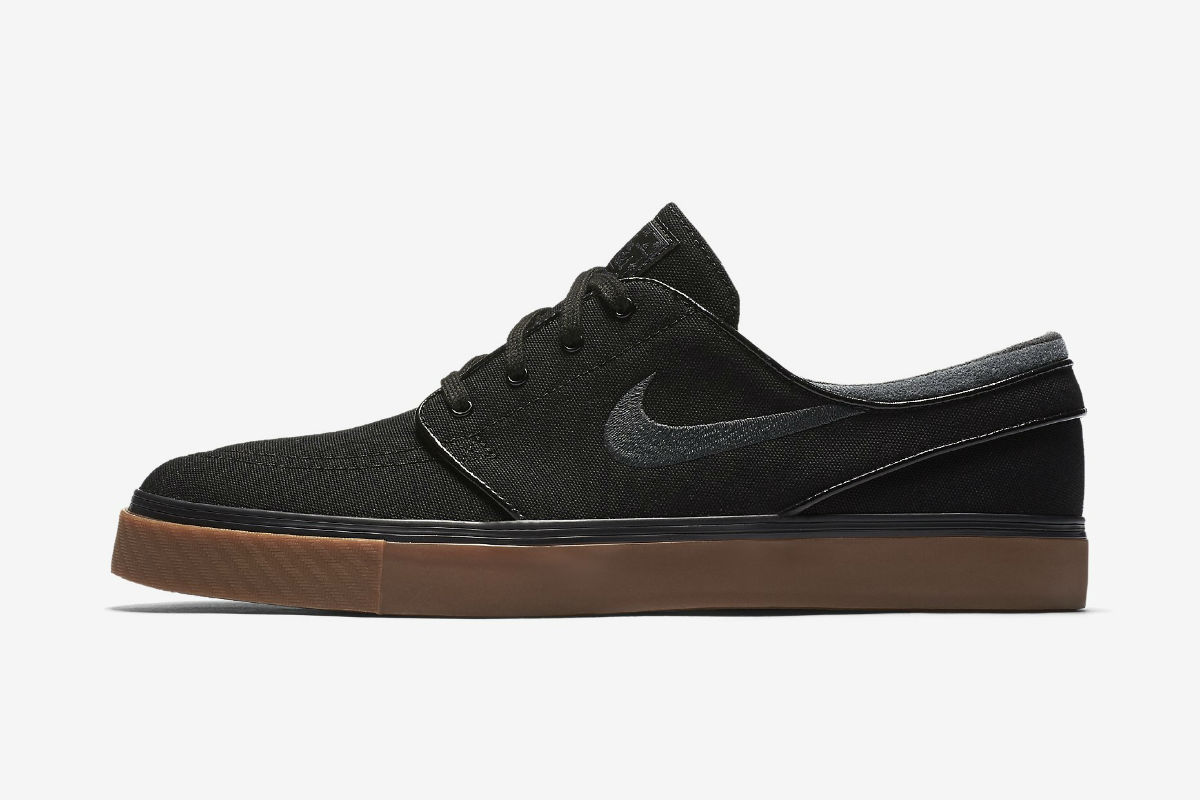 nike sb zoom stefan janoski-canvas black gum medium brown