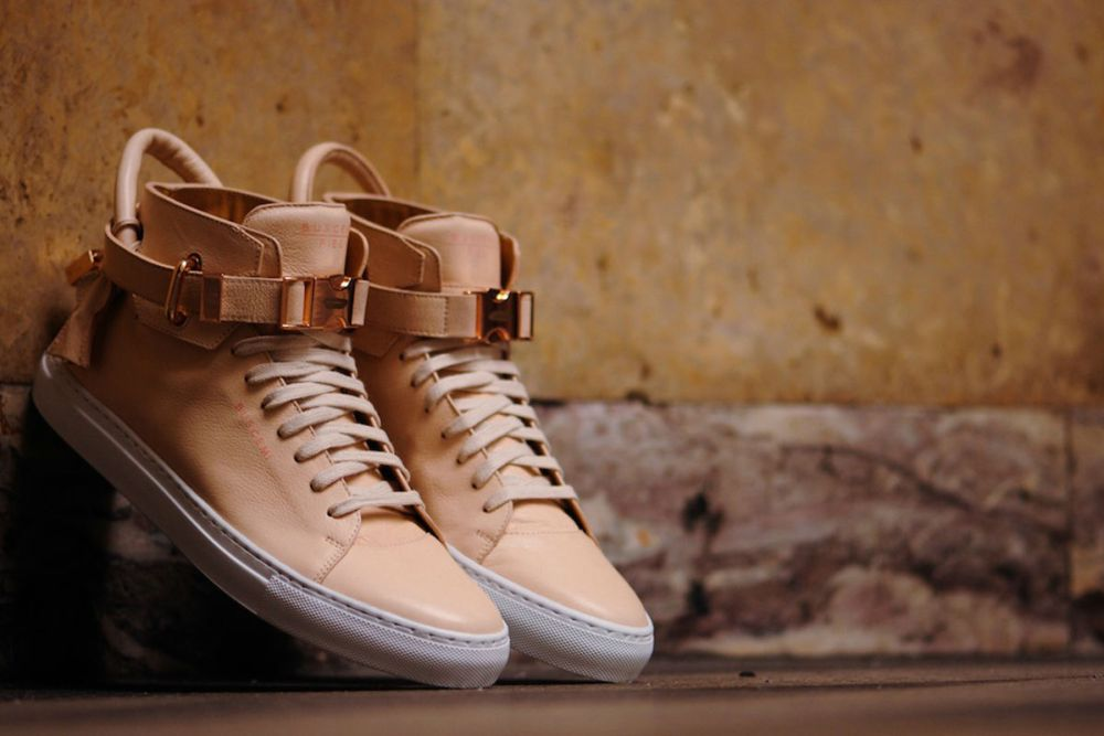 "Ronnie Fieg x Buscemi 100mm ""Veg Tan / Rose Gold"""
