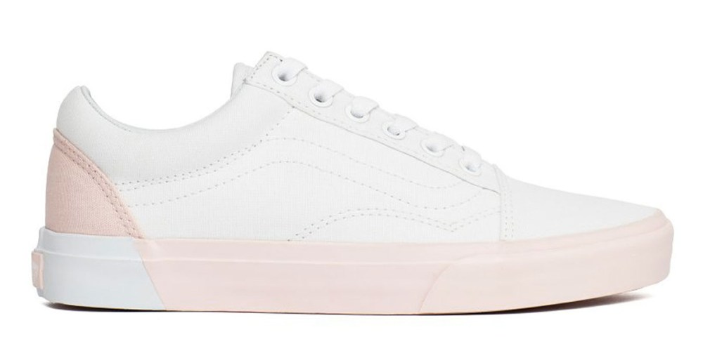 vans old-skool blocked pearl true white