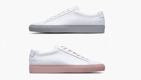 Colored Sole With Common Projects