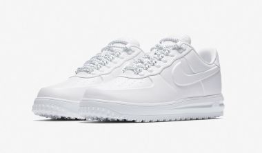 Nike Lunar Force 1 Duckboot Low Triple White