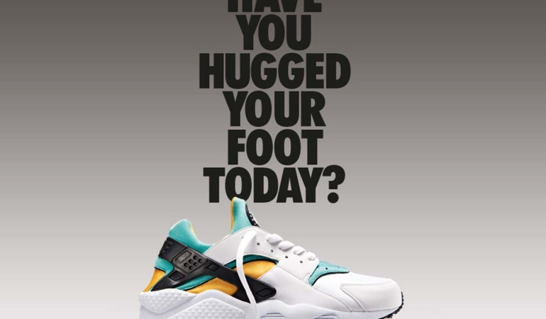 One of the first print advertisements for the Air Huarache