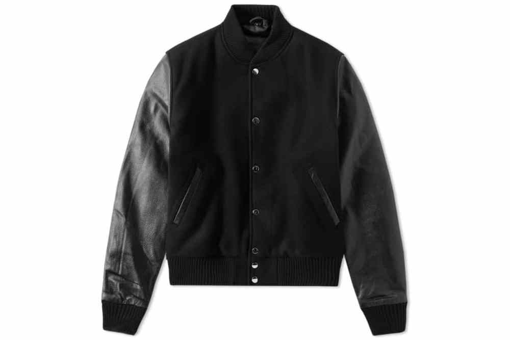 MKI all BLACK CLASSIC VARSITY JACKET