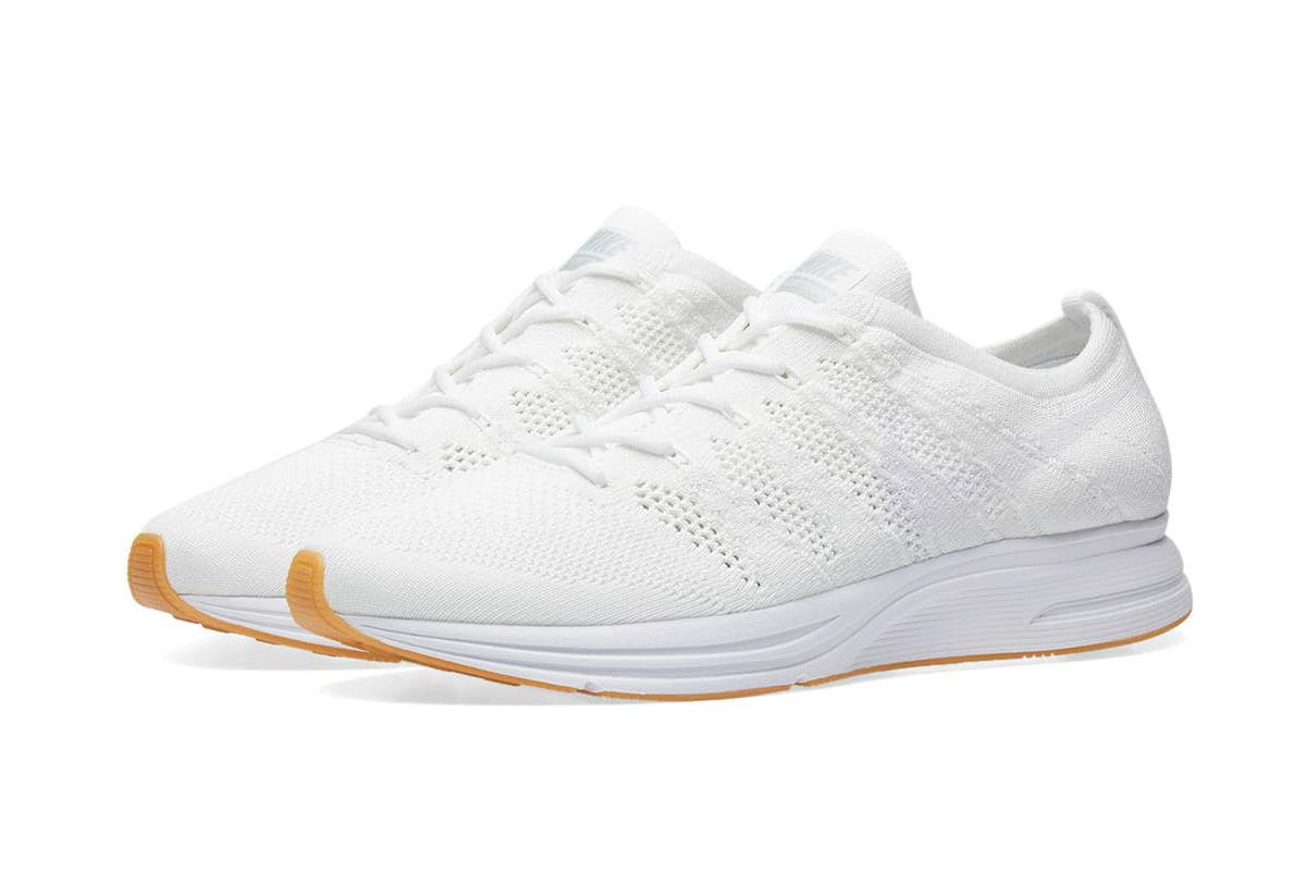 nike flyknit trainer white gum on feet