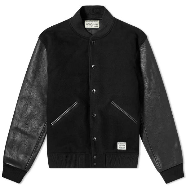 wacko maria guilty parties varsity jacket