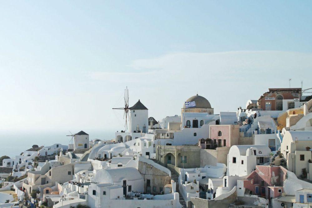 greece view white houses