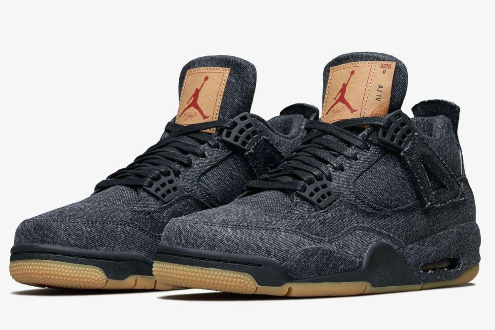 Air Jordan 4 Levi's Black Denim