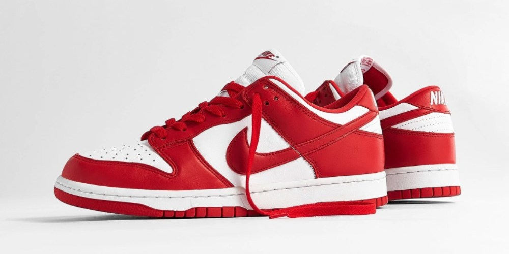 Nike Dunk Low SP White University Red
