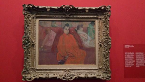 """""""O Divã"""" - Toulouse-Lautrec em Vermelho"""