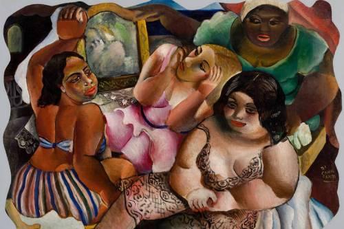 """Quadro """"Bordel"""", de Di Cavalcanti, em exposição na Pinacoteca"""