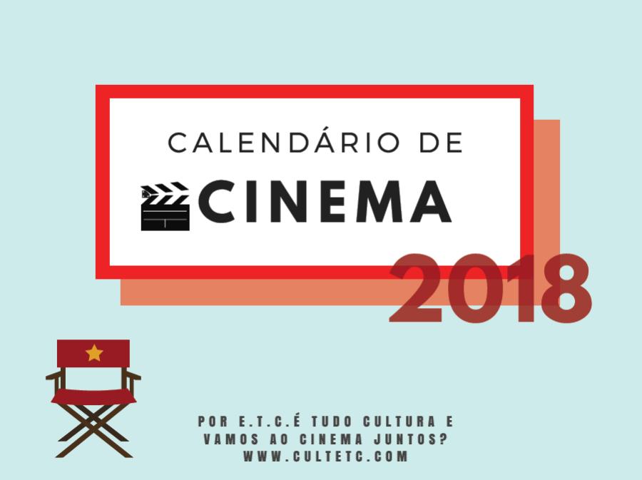 Calendário de cinema 2018