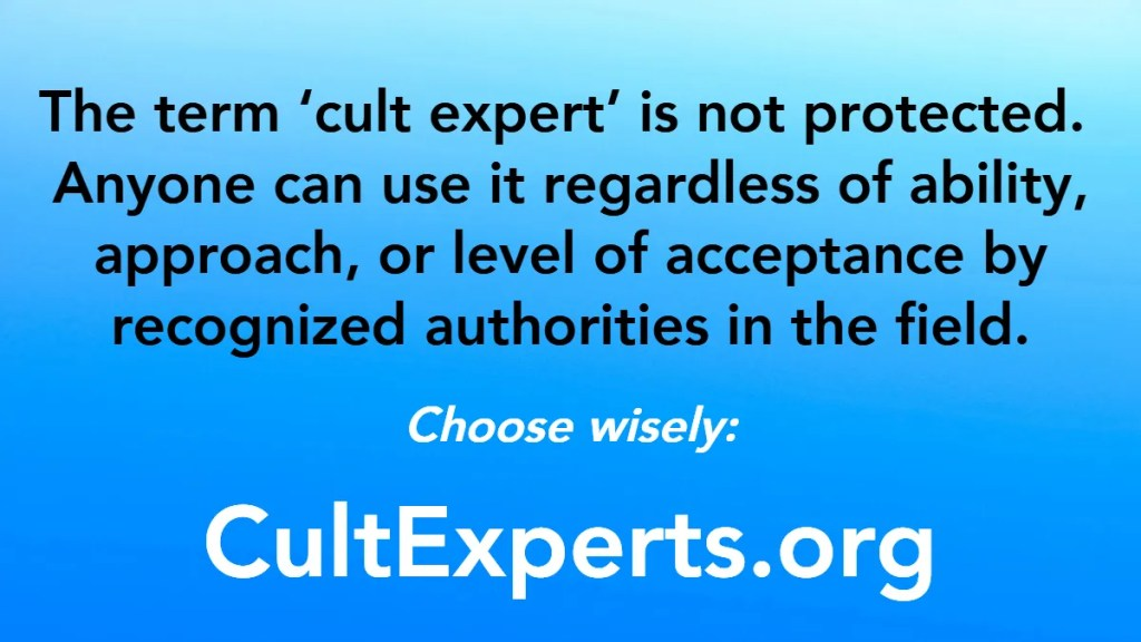 How to find a cult expert
