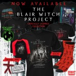The Blair Witch Project 20th Anniversary Apparel plus JAWS, E.T., & SPLATTER UNIVERSITY Tees at Fright-Rags.com