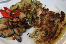 Bacalao con surtido de verduras braseadas y allioli