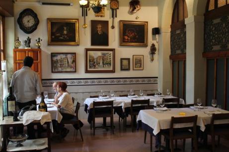 Comedor del restaurante Pitarra