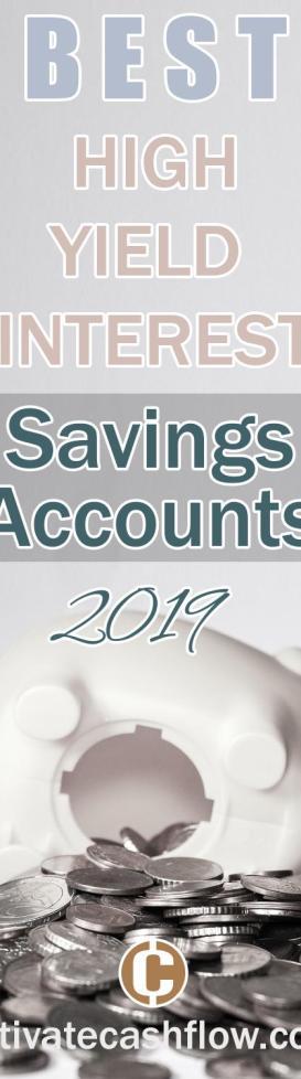 best high yield interestsavings account 2019 pin