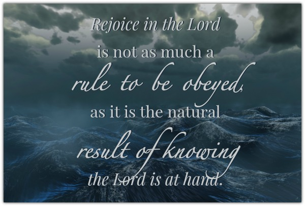 The Natural Result of Knowing the Lord is at Hand