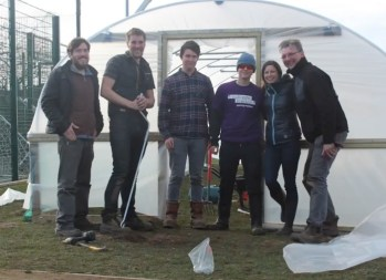 Roehamton-University-Polytunnel-Build1