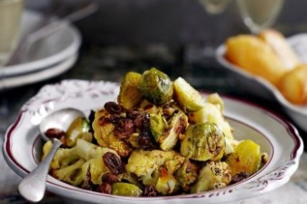 Sicilian roasted Cauliflower and Brussels Sprouts