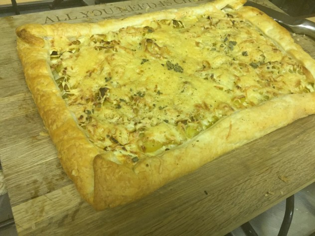 Cheesy Leek Tart