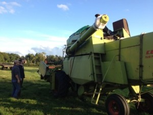 Inspecting the new combine