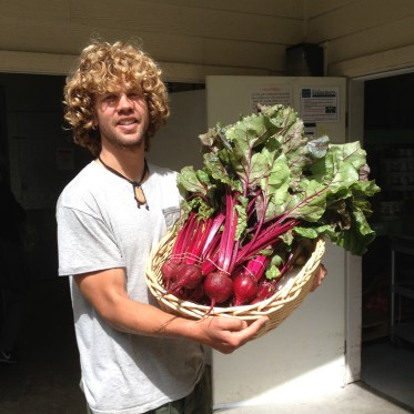 Devin and some beautiful beets