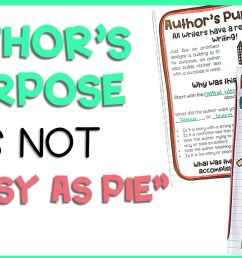 Author's Purpose Is NOT \As Easy As PIE\   Cultivating Critical Readers [ 671 x 1280 Pixel ]
