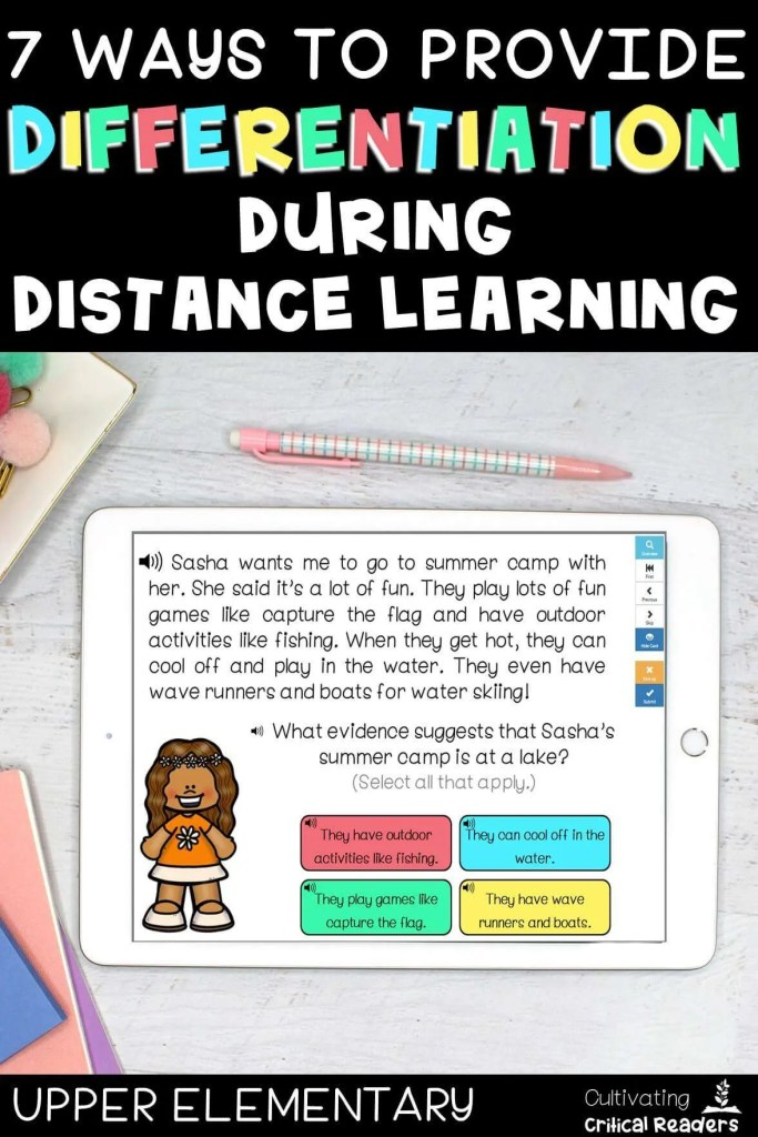7 Ways to Provide Differentiation During Distance Learning