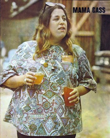 A photo of Mama Cass from The Mamas and the Papas.
