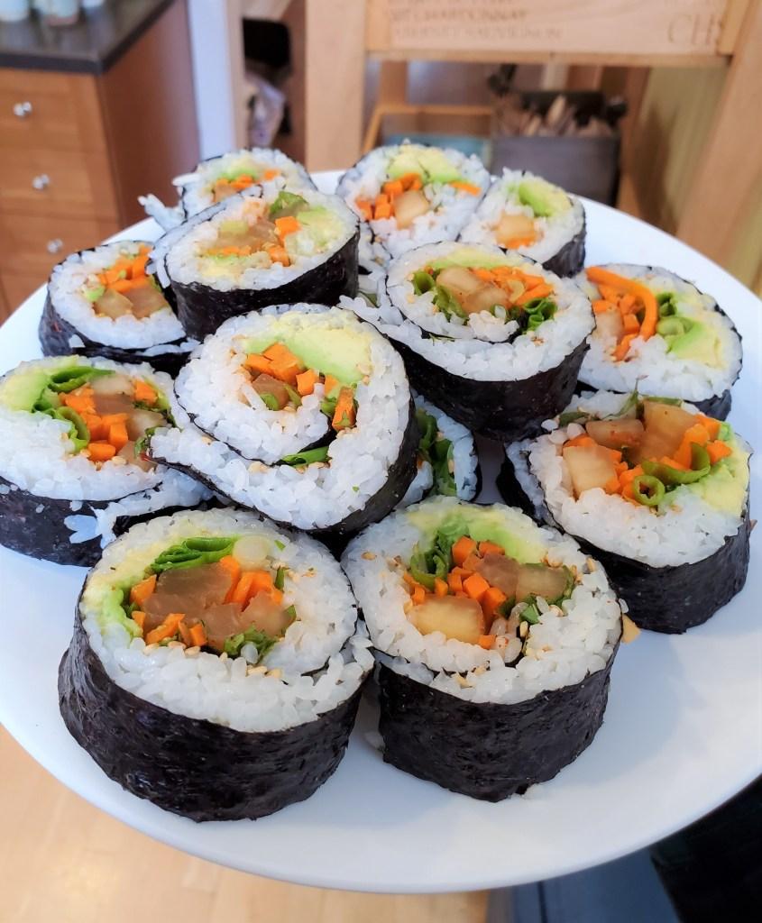 Vegan Kimbap Recipe! Korean Sushi Rolls   CultivatorKitchen.com