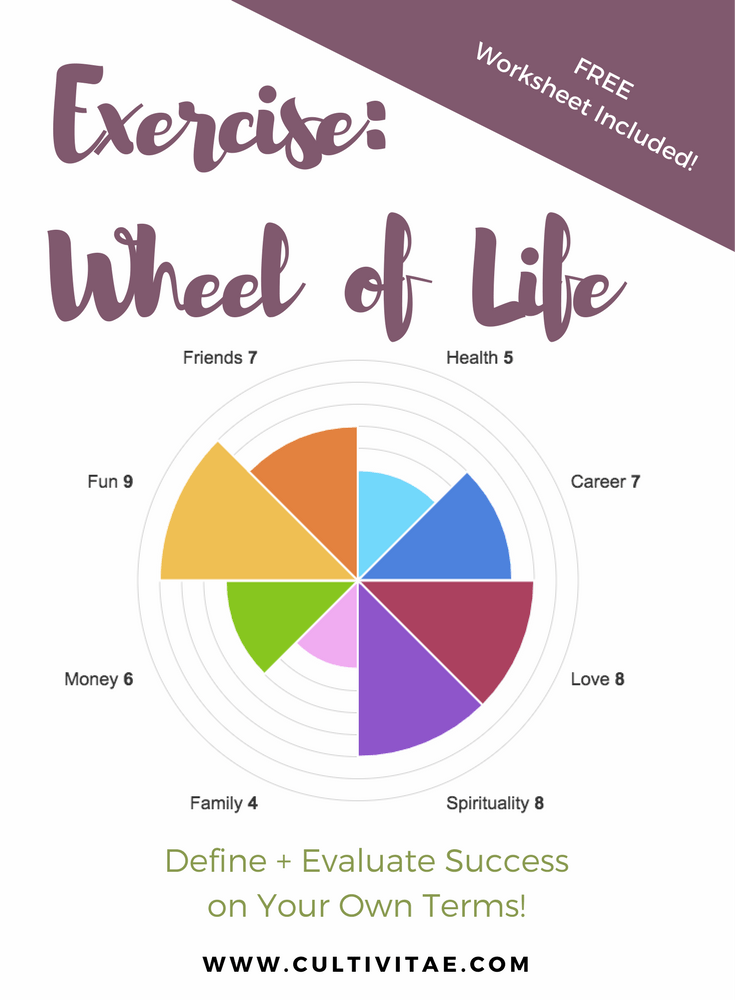 Wheel of Life Exercise Define Success On Your Own Terms – Wheel of Life Worksheet