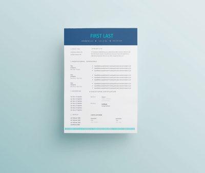 resume template vibrant