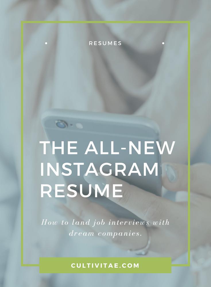 instagram resume