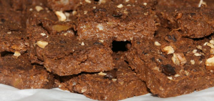 Brownies de abóbora e cacau