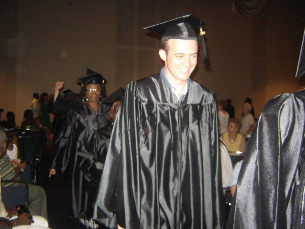 The author, a late bloomer on non-traditional college graduation day, age 26, 2008