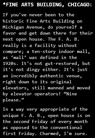 Fine Arts Building, Chicago, description for McLaughlin Violins piece