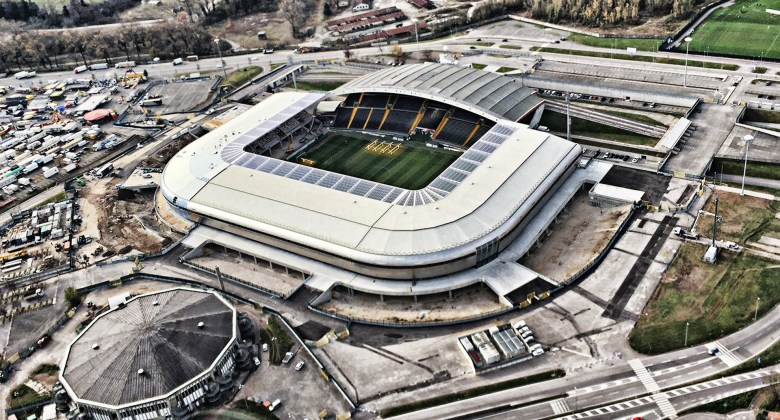 The Stadio Friuli, officially known as Dacia Arena, in Udine