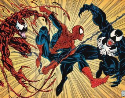 Carnage, Spider-Man, and Venom