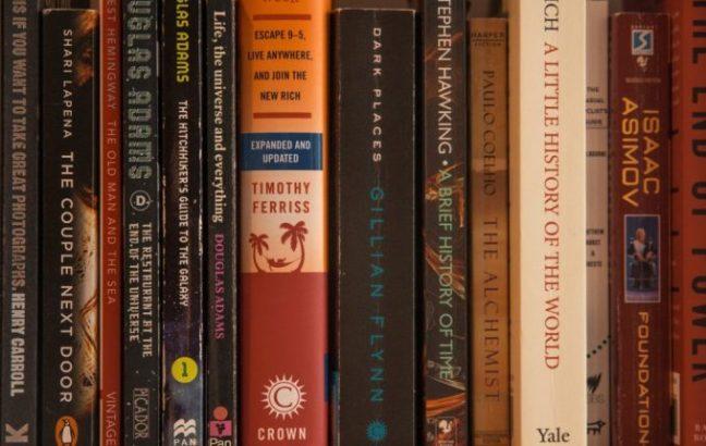 A shelf of books