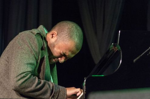 Contemporary South African jazz pianist, Bokani Dyer, at DSG Hall venue in Grahamstown on 2 July 2015, at the 2015 National Arts Festival. Dyer was the winner of the 2011 Standard Bank Young Artist Award. (Photo: CUEPIX/Niamh Walsh-Vorster)