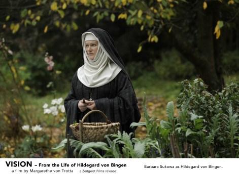 Barbara Sukowa as Hildegard von Bingen in VISION. A film by Margarethe von Trotta. A Zeitgeist Films release.