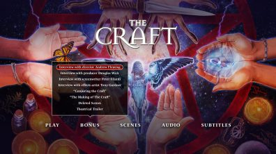 The Craft menu special features