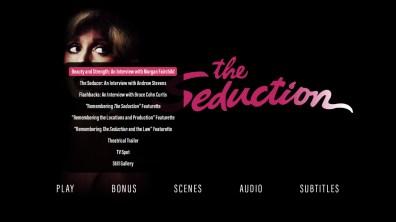 The Seduction special features menu